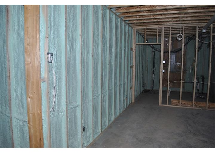 spraytec spray foam insulation basement waterproofing in