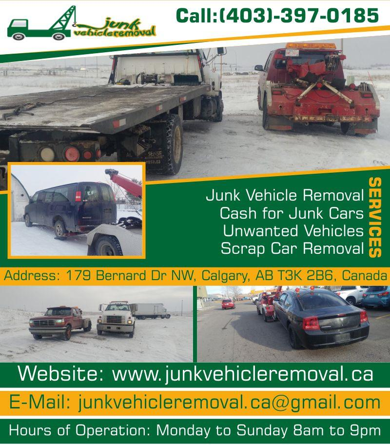 Get Rid of My Car Calgary | Junk Vehicle Removal in Calgary, AB